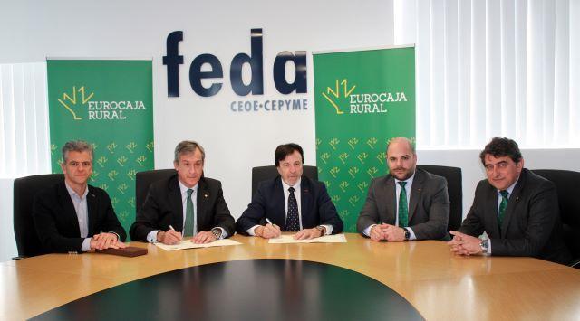 Eurocaja Rural renueva su séptimo convenio social con FEDA