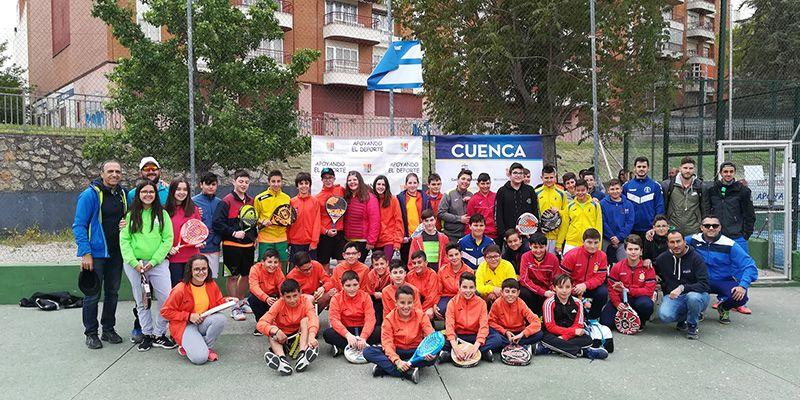 El Campeonato Provincial de Pádel en Edad Escolar de este año ha reunido a 54 parejas de siete localidades de Cuenca