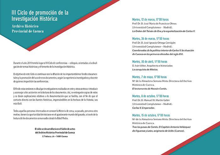 El testamento de Hernán Cortés, en el ciclo de promoción de investigación histórica del Archivo de Cuenca