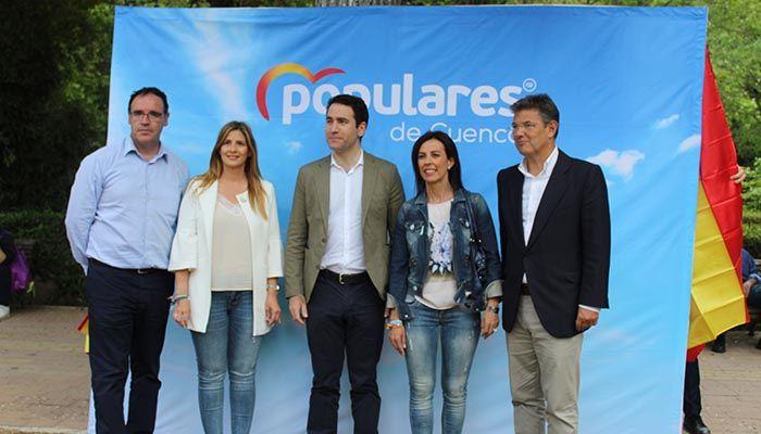 García Egea Con Paco Núñez en Castilla-La Mancha y Luz Moya en el Ayuntamiento de Cuenca, somos el contrapeso necesario a Rufián y Sánchez