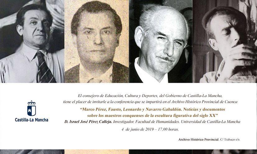 Marco Pérez, Fausto, Leonardo y Navarro Gabaldón..., los maestros conquenses de la escultura figurativa llegan a las conferencias del Archivo Histórico