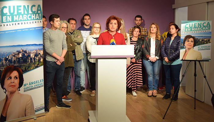 Podemos-Equo (Cuenca, En Marcha!) presenta su campaña para municipales bajo el lema '#SalvemosCuenca'