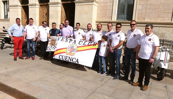 Prieto subraya la promoción para la capital y la provincia que supone la IV Concentración Vespa Club Cuenca