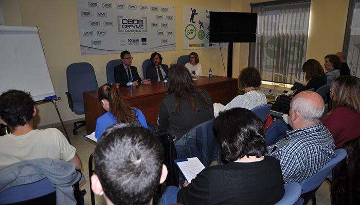 Una treintena de empresarios se forman en protección de datos en la sede de CEOE-Cepyme Cuenca