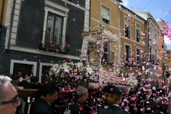La procesión del Corpus de 2019 en Cuenca cambia de recorrido y de iglesia de llegada y se celebrará de nuevo por la tarde