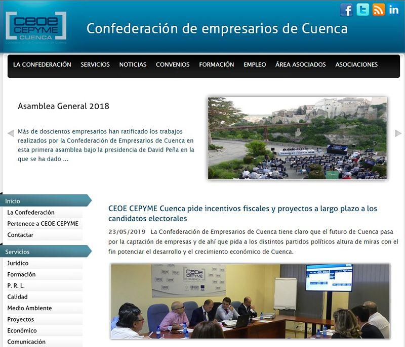 La web y las redes sociales de CEOE-Cepyme Cuenca multiplican su seguimiento