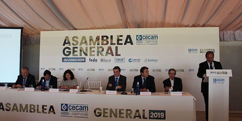 Los empresarios de Castilla-La Mancha arropan a CECAM en su asamblea general y analizan las medidas que necesita nuestra economía