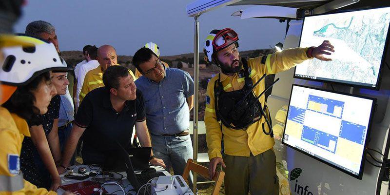 """Martínez Arroyo informa de la """"evolución positiva"""" de los incendios de la provincia de Toledo y lanza un mensaje de prevención a la ciudadanía en esta jornada"""