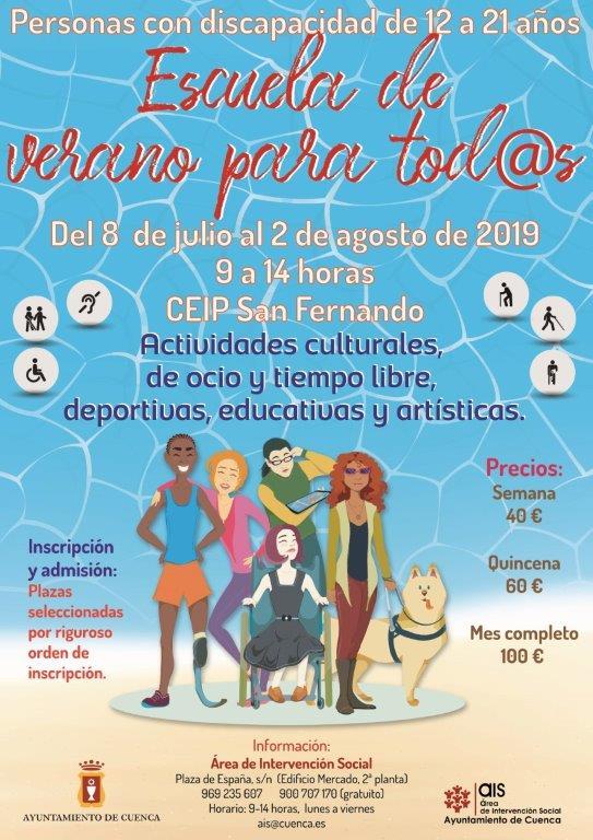 Actividades culturales, educativas y de ocio en la 'Escuela de Verano para tod@s' del AIS de Cuenca