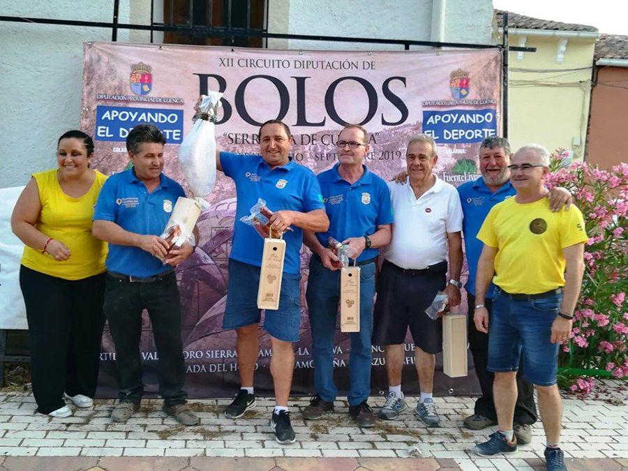 Buenache de la Sierra se alza con el primer puesto en  la cuarta prueba del circuito de bolos Serranía de Cuenca