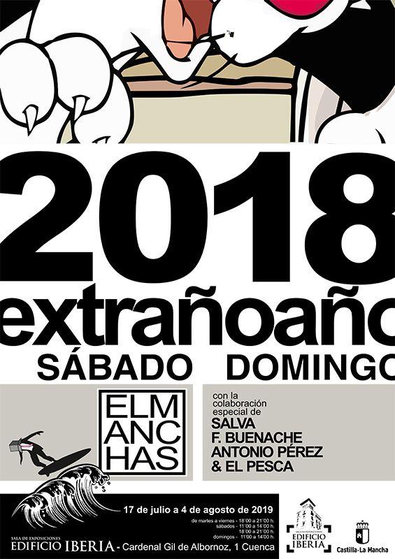 La Sala Iberia acoge la muestra ´2018 extraño año´ de El Manchas