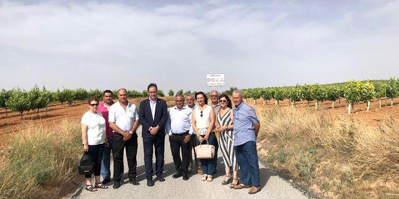 Diputación de Cuenca concluye el arreglo del camino entre Ledaña y El Herrumblar con una inversión de más de 250.000 euros