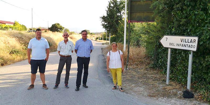 Diputación de Cuenca va a destinar 396.000 euros a la mejora del firme de la carretera entre Valdeolivas y Villar del Infantado