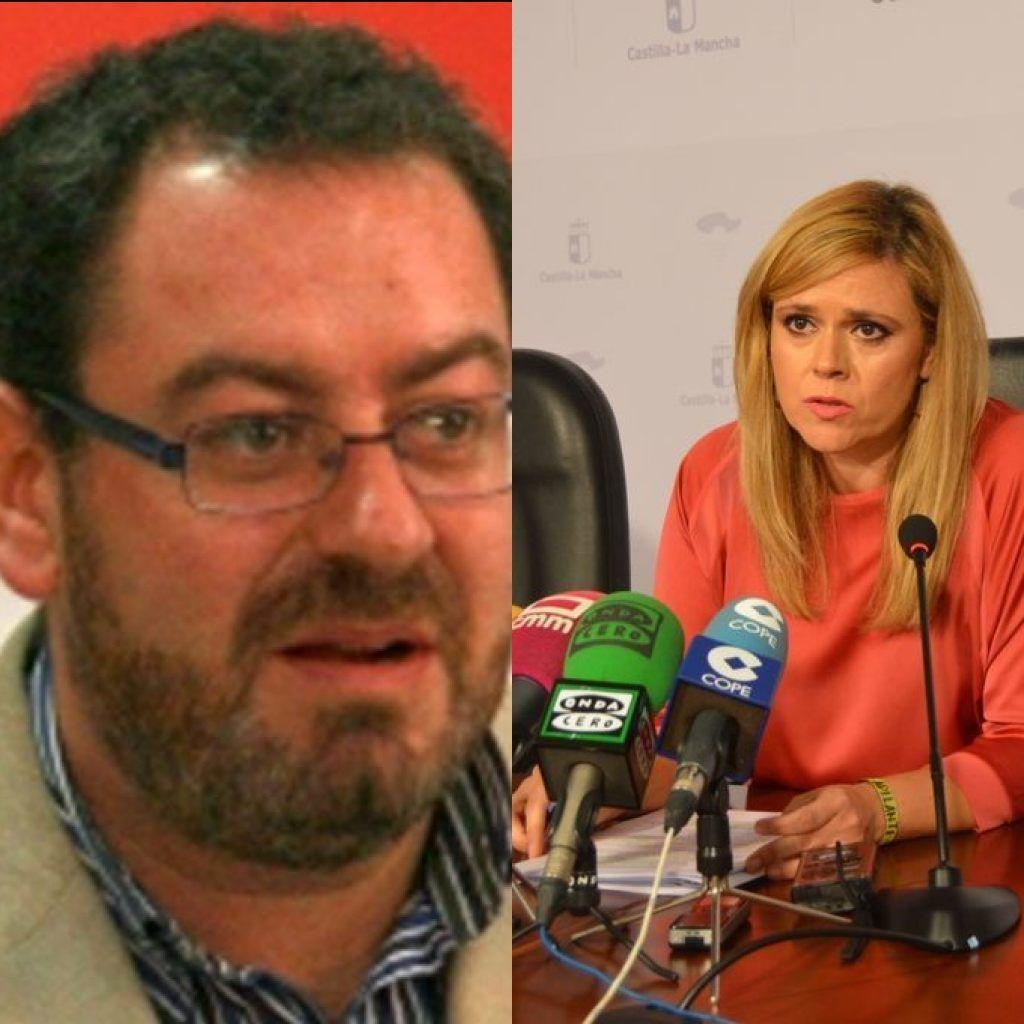 María Ángeles Martínez y Eusebio Robles, delegados de la Junta en Cuenca y Guadalajara