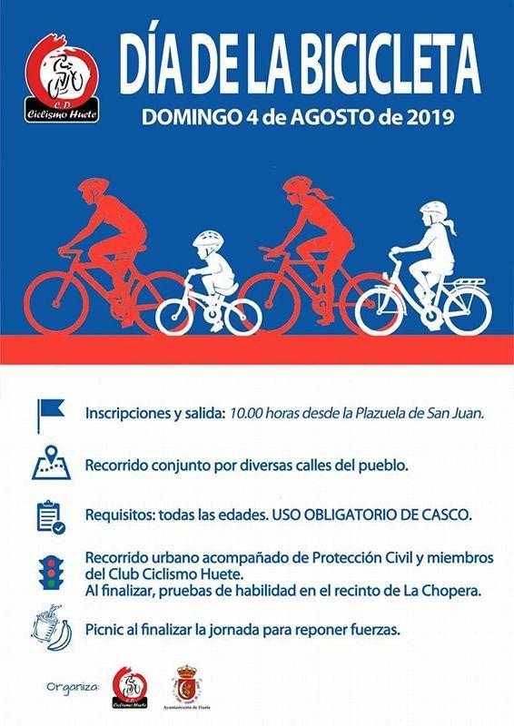 Huete celebrará el Día de la Bici el próximo 4 de agosto