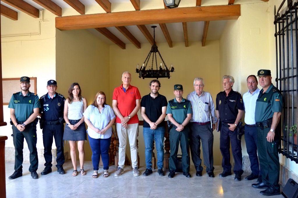 El subdelegado del Gobierno en Cuenca, Juan Rodríguez, copreside la Junta de Seguridad celebrada en Mota del Cuervo