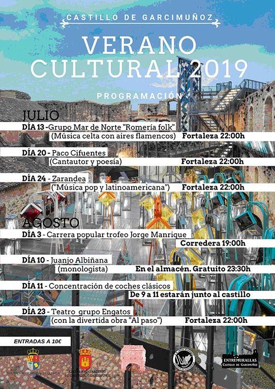 La fortaleza de Castillo de Garcimuñoz, espectáculo y música en el Verano Cultural 2019