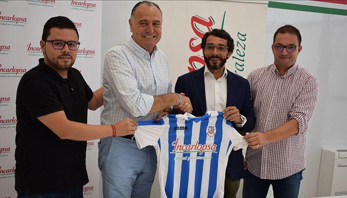 López Carrizo agradece a Incarlopsa su compromiso con el deporte a través del convenio con la Escuela de Fútbol Jesús de la Ossa