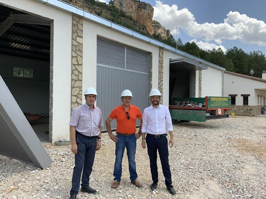 La Junta conoce el nuevo edificio del retén de incendios de Uña