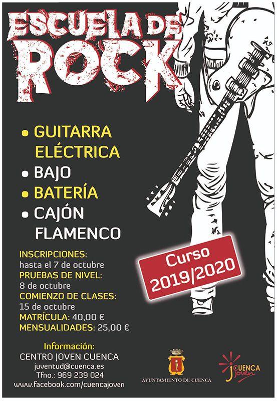 Abierto el plazo de matriculación para la Escuela de Rock y el Curso Práctico de Cine en Cuenca