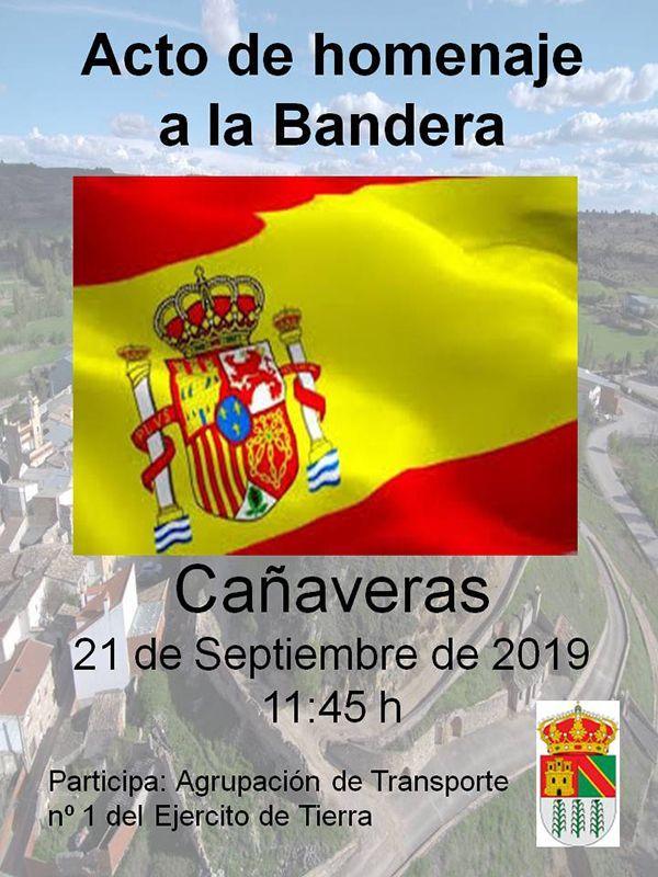 Cañaveras celebrará un Homenaje a la Bandera el sábado, 21 de septiembre
