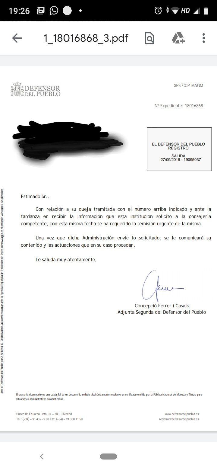 El Defensor del Pueblo requiere de manera urgente información sobre la privatización de la residencia de mayores de Priego
