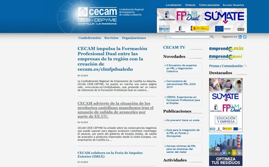 cecam ceoe cepyme pone en marcha una nueva pC3A1gina web marco de referencia de la formaciC3B3n profesional dual en nuestra regiC3B3n | Informaciones de Cuenca
