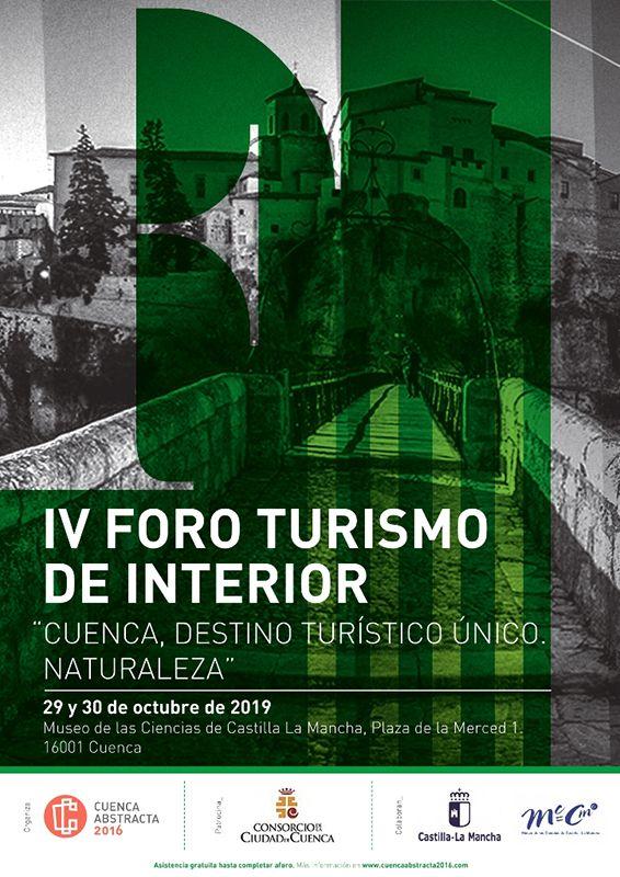"""Cuenca Abstracta organiza el IV Foro Turismo de Interior """"Cuenca, destino turístico único"""" destinado este año a la naturaleza"""
