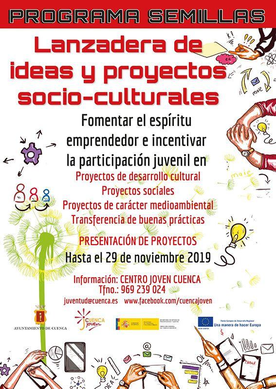 El Ayuntamiento de Cuenca pone en marcha la nueva edición del Programa Semillas de proyectos socio-culturales