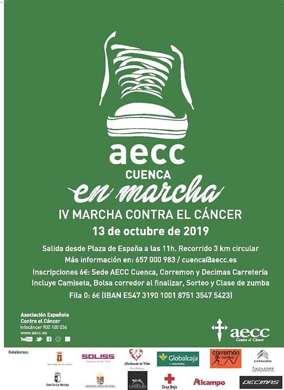 El domingo, 13 de octubre, nueva edición de la AECC en marcha en Cuenca