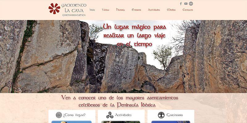 El yacimiento La Cava de Garcinarro se consolida con destino turístico estrenando página web