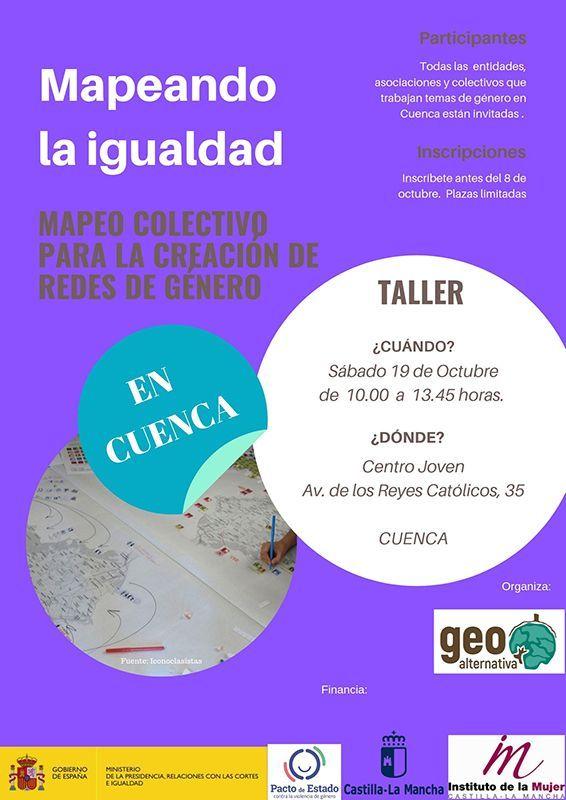 """Llega a Cuenca el proyecto  """"Redes para la Igualdad"""" de la mano de la Asociación GeoAlternativa y el Instituto de la Mujer"""