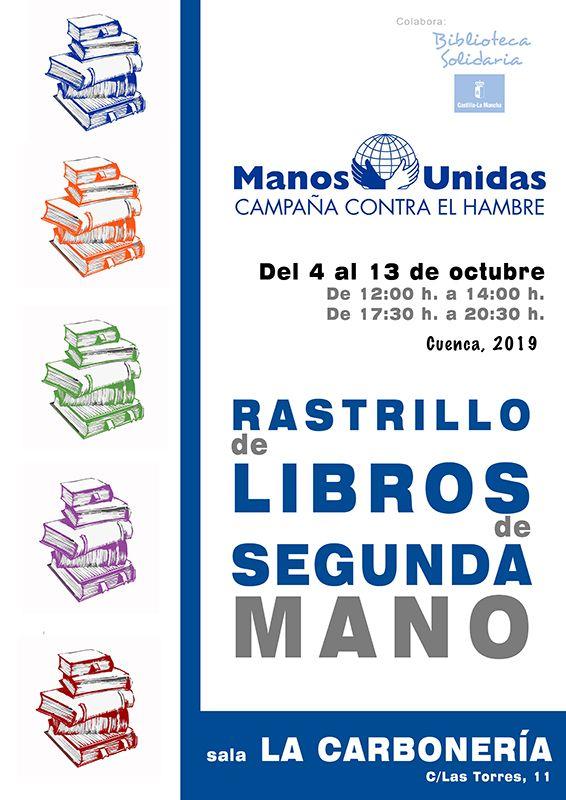 Manos Unidas Cuenca celebra la sexta edición de su rastrillo de libros de segunda mano
