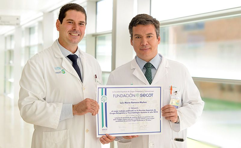 Traumatólogos del Hospital Nacional de Parapléjicos, premiados por un estudio que mejorará la práctica clínica del dolor lumbar