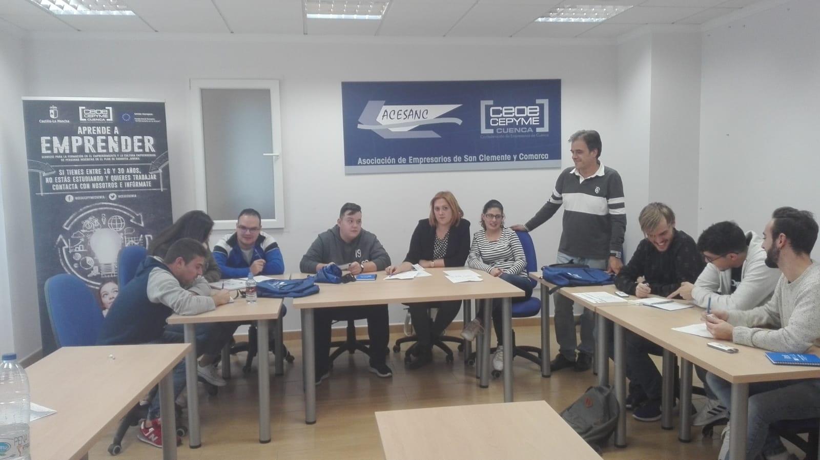 CEOE-Cepyme Cuenca forma a jóvenes de San Clemente en emprendimiento