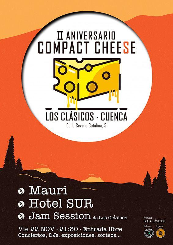 Compact Cheese celebra su segundo aniversario en Cuenca este fin de semana