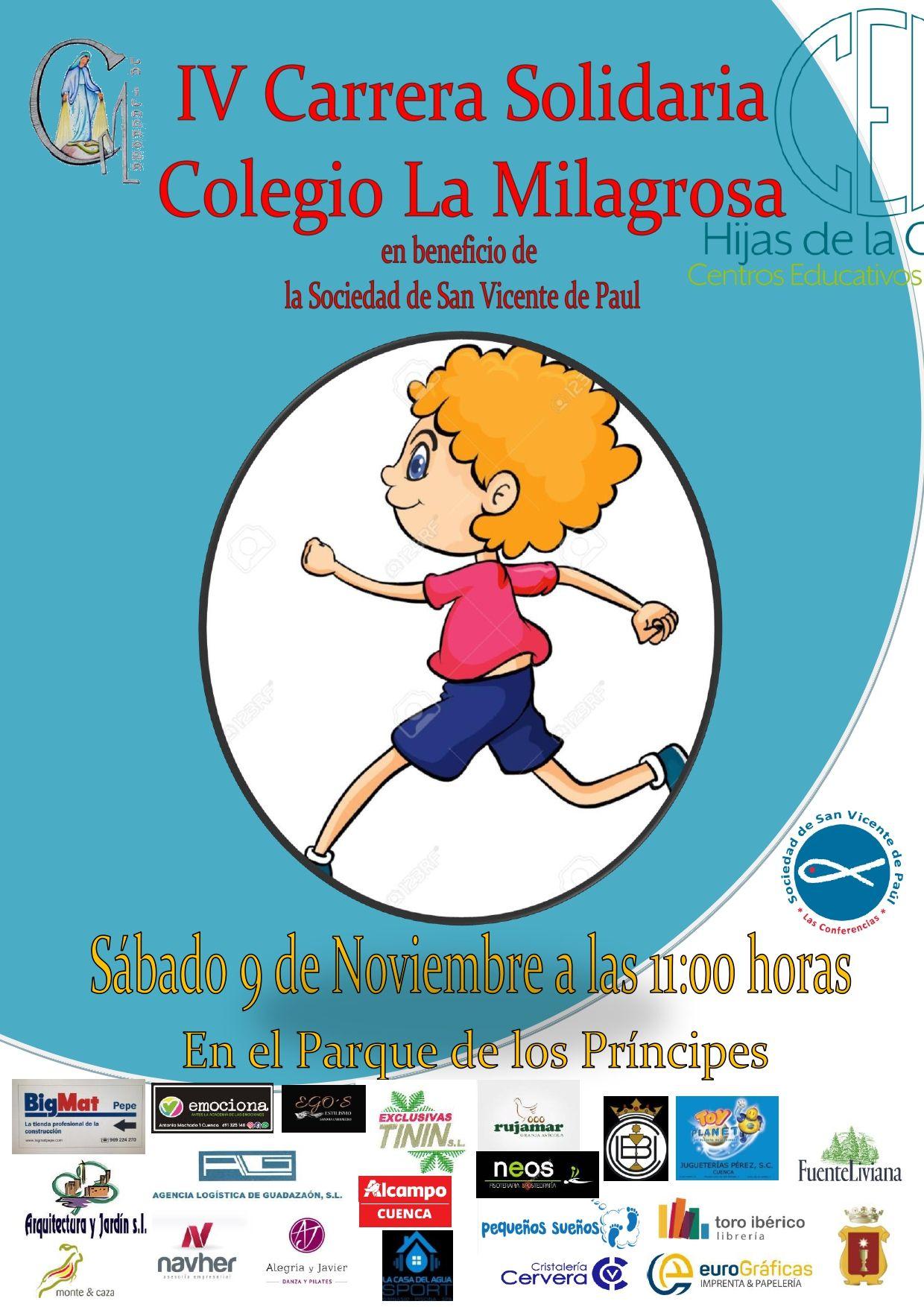 El Colegio La Milagrosa de Cuenca celebra este sábado su IV Carrera Solidaria