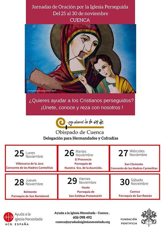 El Obispado de Cuenca organiza la semana de oración por la Iglesia Perseguida, del 25 al 30 de noviembre