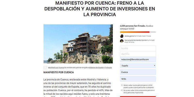 Los impulsores del Manifiesto por Cuenca envían el texto a todos los ayuntamiento de la provincia para que lo debatan en sus respectivos Plenos