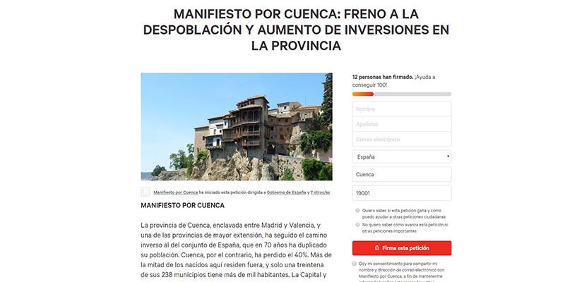 Una treintena de personalidades firman un manifiesto para que los gobiernos frenen la despoblación y aumentan inversiones en Cuenca