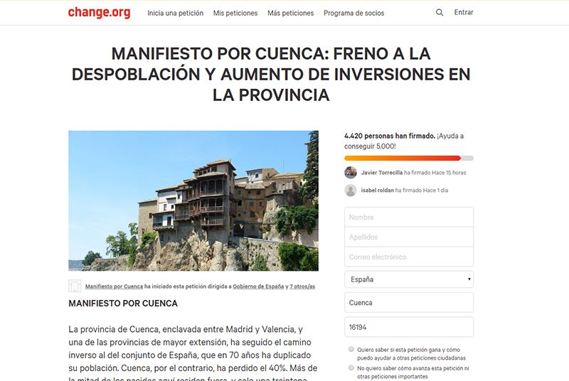 El Ayuntamiento de Cuenca se adhiere al Manifiesto por Cuenca