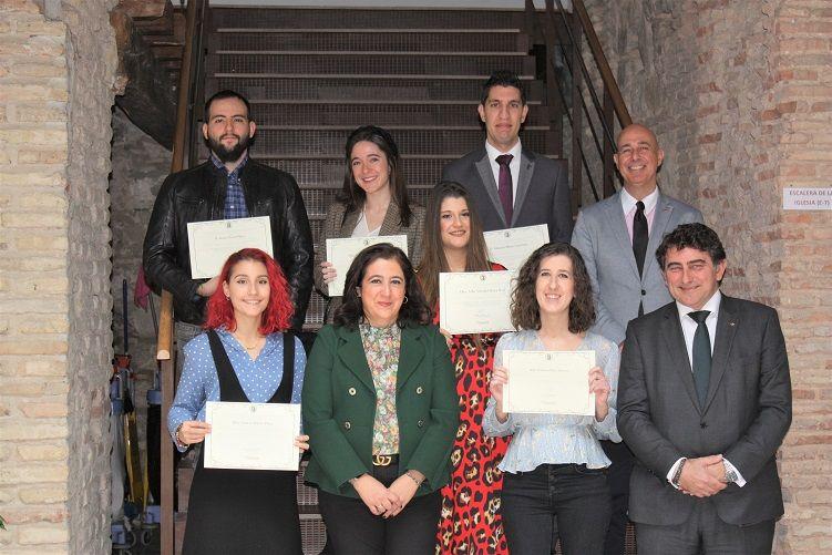 Entregados los 5º Premios a los mejores Trabajos Fin de Grado por la Cátedra Fundación Eurocaja Rural - UCLM