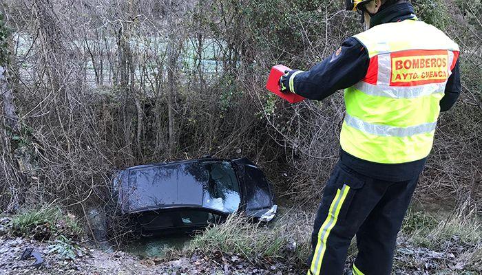 Espectacular accidente de tráfico en la carretera de Palomera
