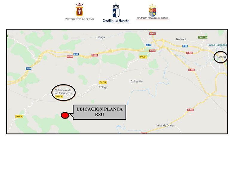 La nueva planta de residuos sólidos urbanos de Cuenca se ubicará en el paraje del Puntalón entre Cuenca y Villanueva de los Escuderos
