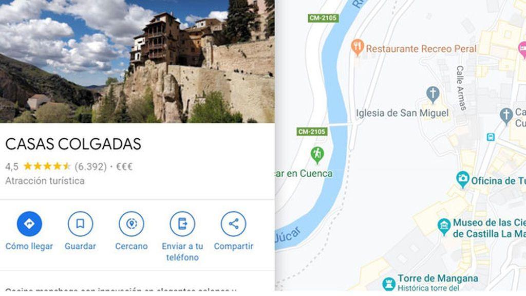 Un conquense hace rectificar a Google Maps y logra que las Casas Colgadas se llamen.... Casas Colgadas