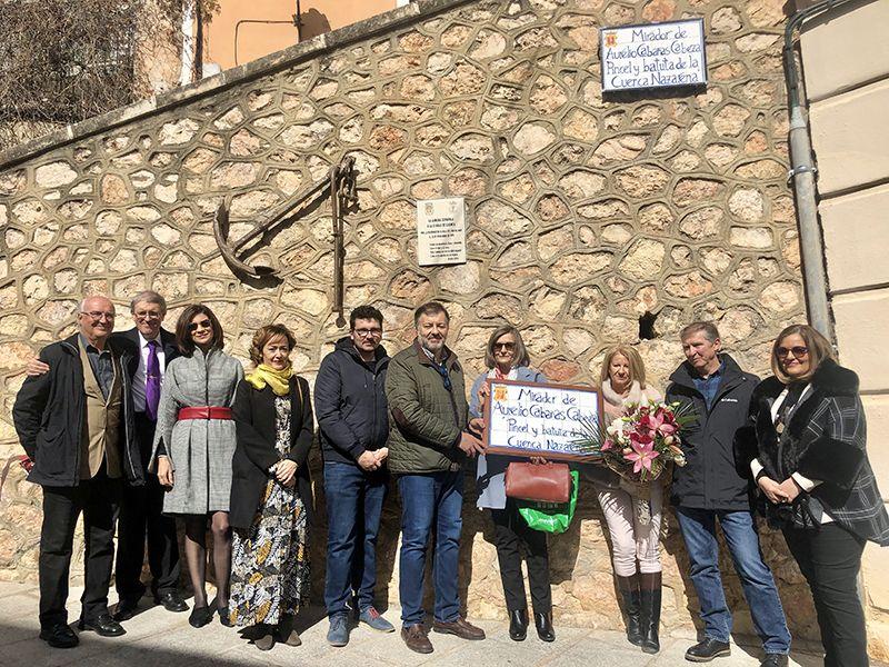 Aurelio Cabañas, referente de la Semana Santa de Cuenca, ya cuenta con un mirador en el Casco Antiguo