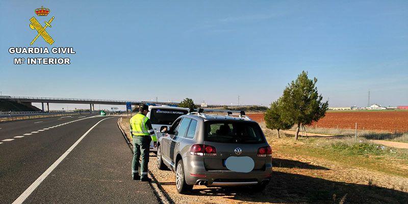 Detenido en Cuenca un joven de 27 años por circular a 237 kilómetros por hora en la en la autovía A-43