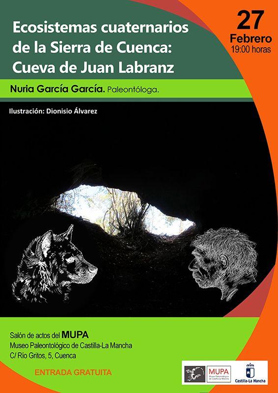 El MUPA acoge el jueves 27 la conferencia ´Los Ecosistemas Cuaternarios de la Sierra de Cuenca investigaciones en la Cueva de Juan Labranz´
