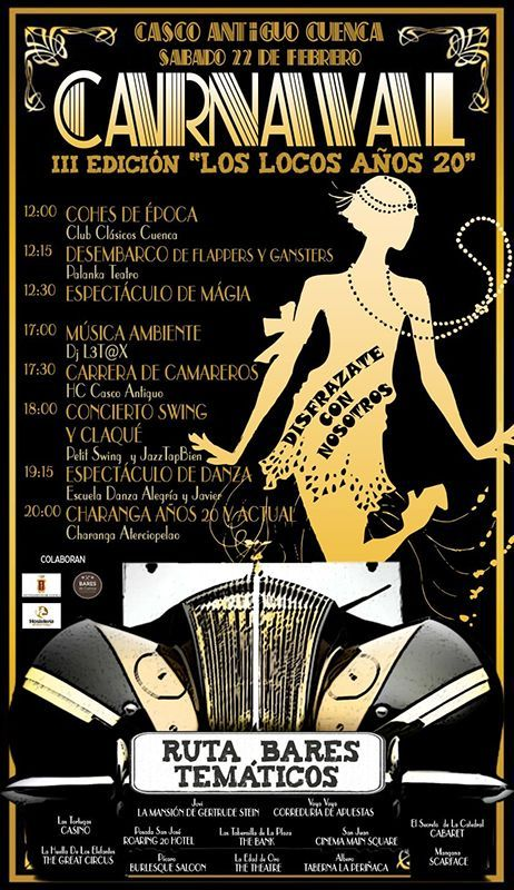 HC Hostelería del Casco Antiguo de Cuenca retrocederá un siglo para rememorar un año más los años 20 en Carnaval