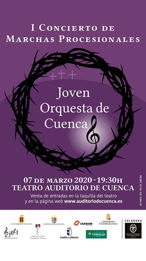 La JdC colabora con el I Concierto de Marchas Procesionales de la Joven Orquesta de Cuenca